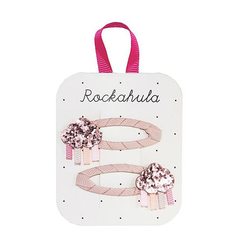 Rockahula Rainbow Cloud Glitter Pink Clips