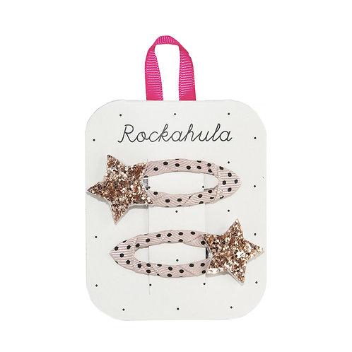 Rockahula Star Burst Glitter Gold Clips