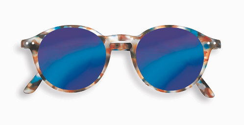 Izipizi Shape #D The Iconic - Blue Tortoise Mirror