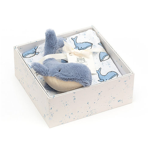 Jellycat Willbur Whale Gift Set