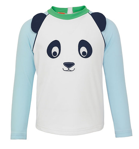 Sunuva Baby Boys Panda Long Sleeve Rash Vest