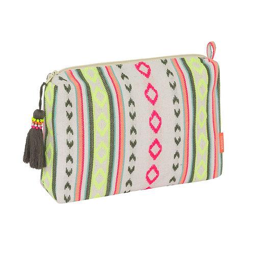 Sunuva Cream Tribal Striped Washbag