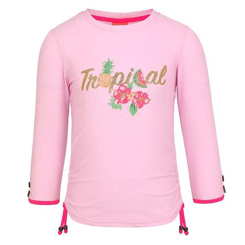 Sunuva Girls Tropical Long Sleeve Rash Vest