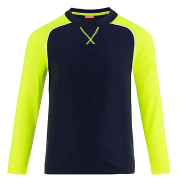 Sunuva Boys Navy and Neon Long Sleeve Rash Vest
