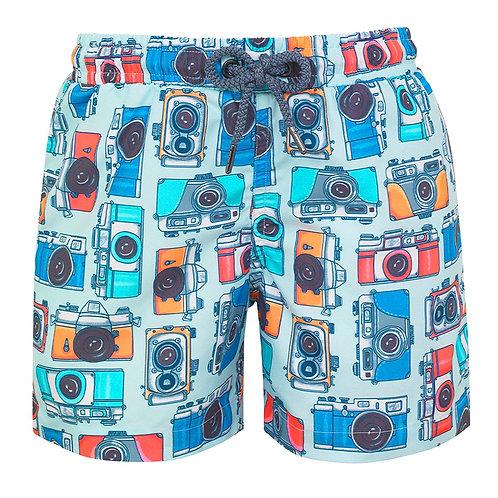 Sunuva Boys Vintage Camera Swim Shorts