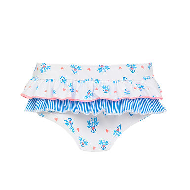 Sunuva Baby Girls Anchor Frill Nappy Pant
