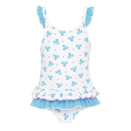 Sunuva Baby Girls Anchor Frill Swimsuit