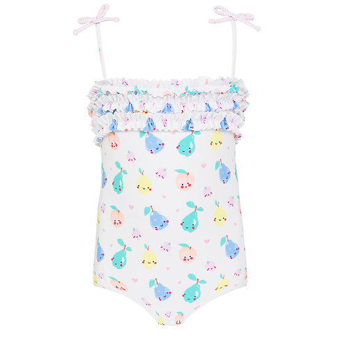 Sunuva Baby Girls Fruit Friend Ruffle Swimsuit