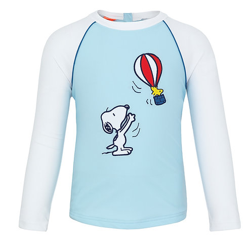 Sunuva Baby Boys Snoopy Long Sleeve Rash Vest