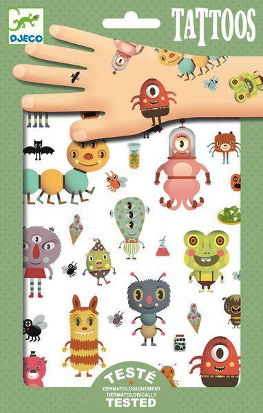 Djeco Metallic Tattoos Monsters