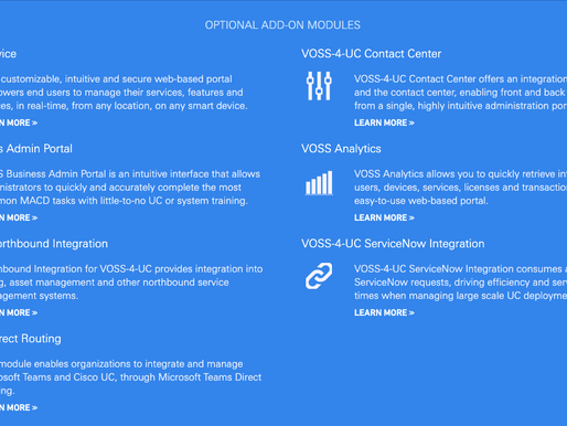 Productivity Benefits of VOSS-4-UC - The Cisco UC provisioning and administration tool