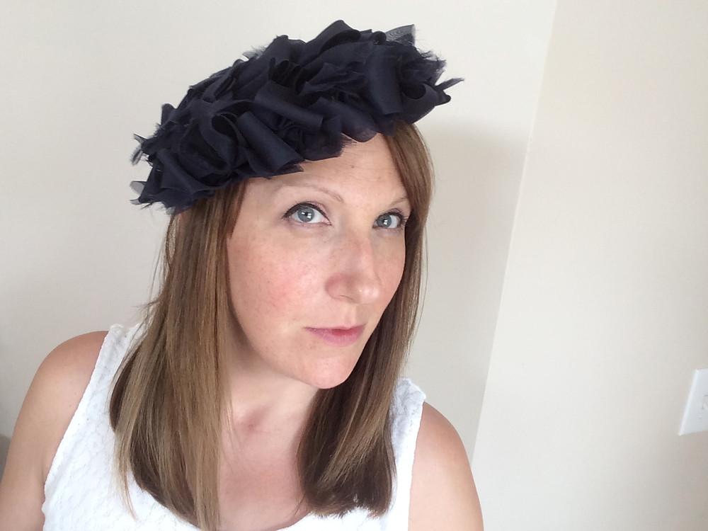 April Leigh in a vintage Hudson's hat