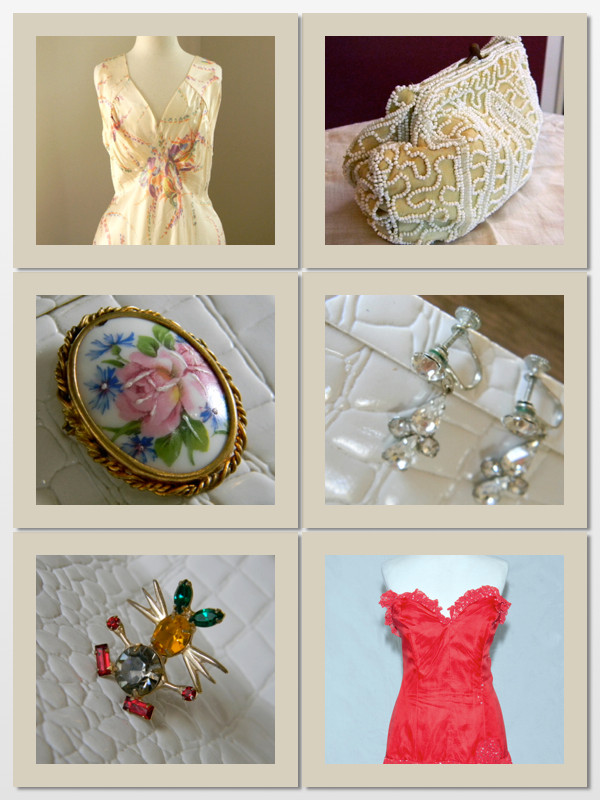 Easy vintage add-ons for any size- purses, jewelry and hats