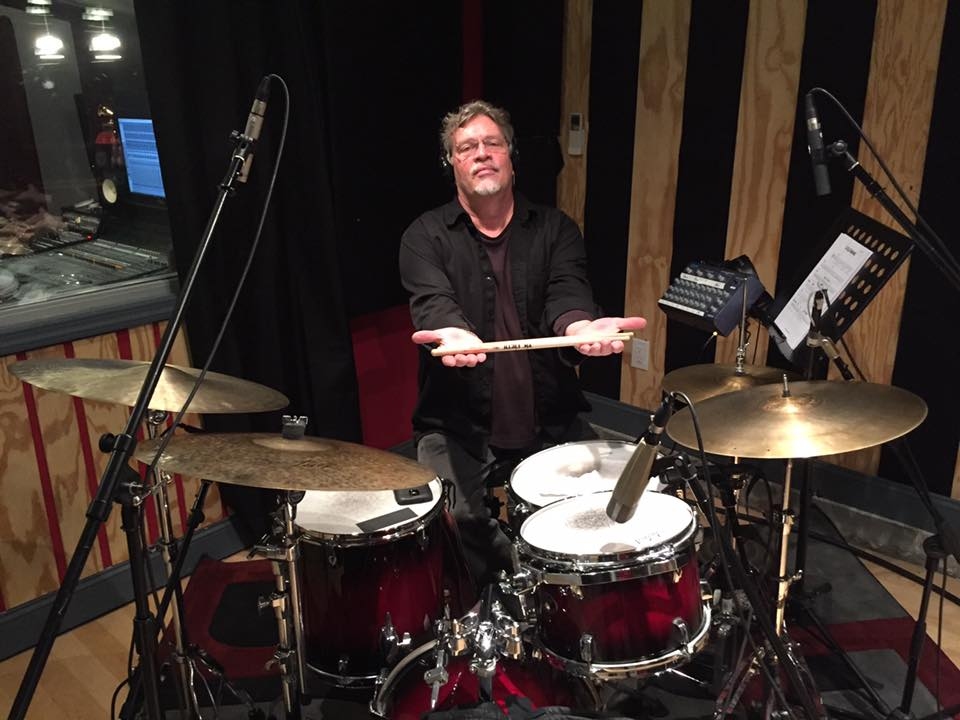 Tim Horner behind the drums