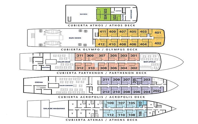 MV Skorpios lll deck plan