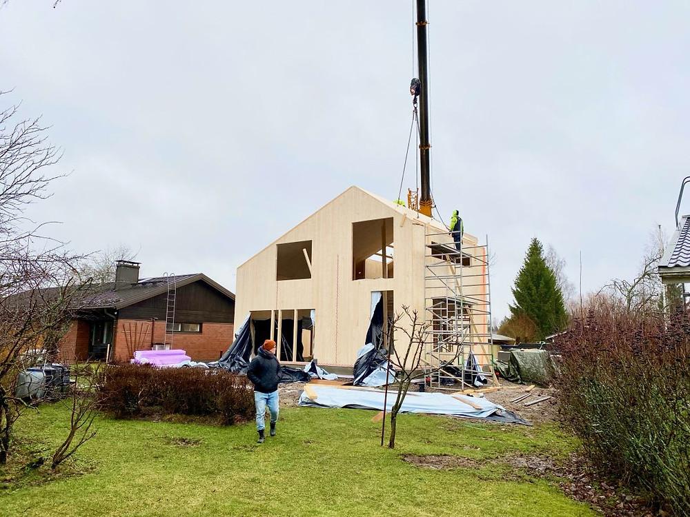 Hoisko CLT, clt talo, clt rakentaminen
