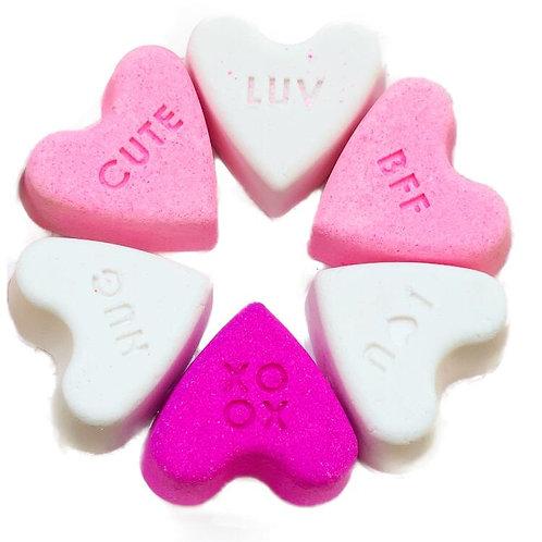 3 Colour Conversation Hearts