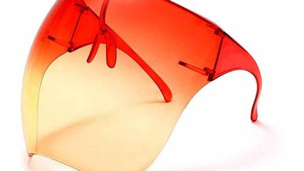 Protective Bubble Face Shield Orange