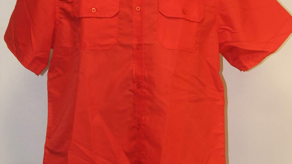 Red men's button up