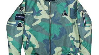 Camo activated bomber jacket