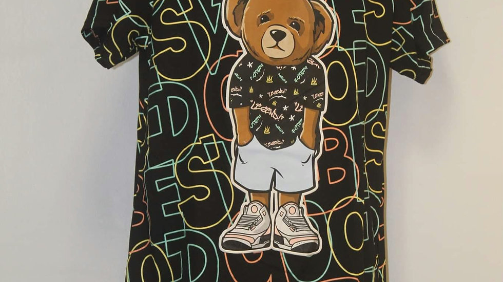 Hustle bear tshirt
