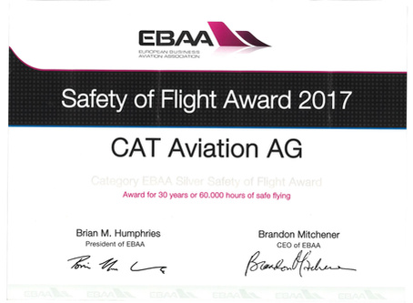 Safety Silver Award for CAT Aviation