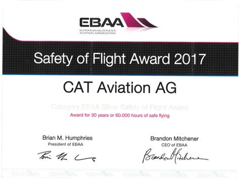 Safety Silver Award für CAT Aviation