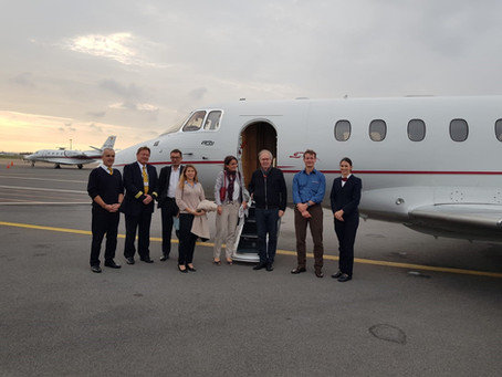 CAT provides a business jet for a humanitarian mission