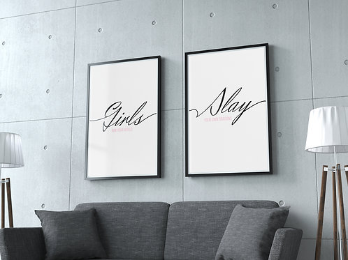 Girls Slay Print