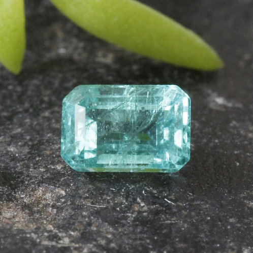 0.45 ct. Natural Unheated/ Untreated Greenish-Blue Emerald, from the Famous Mine