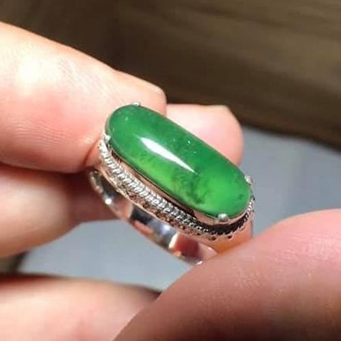 The Emerald Sea, 2.7 ct. Translucent Emerald Green, Jadeite Jade (Grade A)