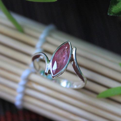 Stunning Marquise Cut, Unheated/ Untreated Pinkish-Red Burmese Ruby Gemstone