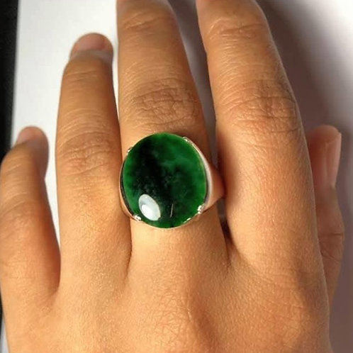 The Imperial Commander, 6.9 ct. Saturated Imperial and Light Green Jadeite Jade