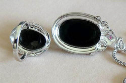 Imperial Translucent Black Omphacite Jad