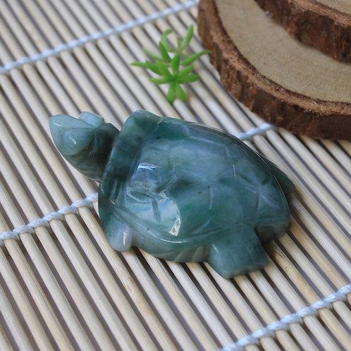 Light Green/ Dark Green Vein Mottled Jadeite Jade (Grade A) Extremely Detailed
