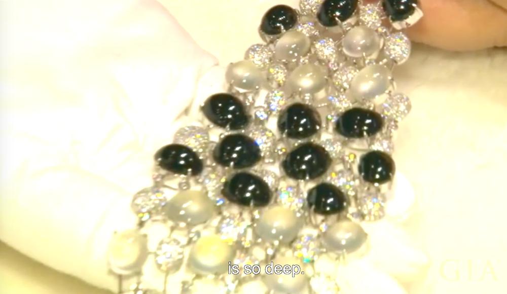 Hi Class Jewelry...Rare Imperial Translucent Black Omphacite Jadeite Jade by GIA
