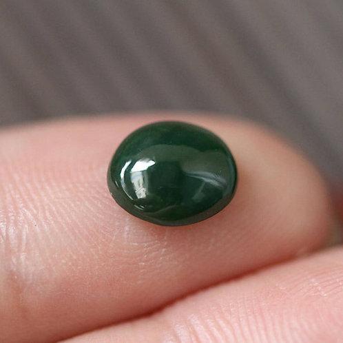 1.5 ct. Imperial-Dark Green Jadeite Jade (Grade A) Cabochon Gemstone