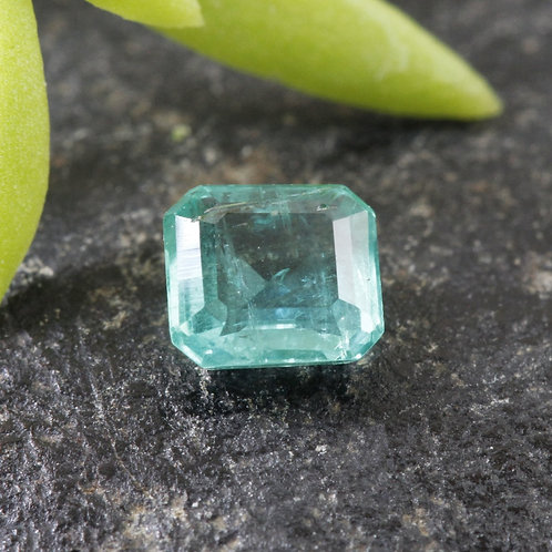 0.3 ct. Natural Unheated/ Untreated Greenish-Blue Emerald, from the Famous Mines