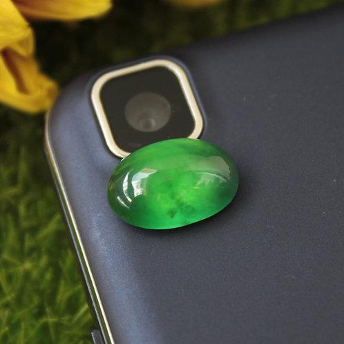 5 ct. Inky Emerald Dark-Green Omphacite Jadeite Jade (Grade A) Cabochon Gemstone