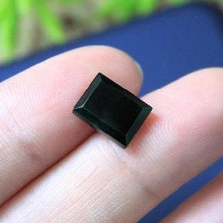 Cosmic Dust, 2.5 ct. Imperial Translucent Black Omphacite-Jadeite Jade (Grade A)