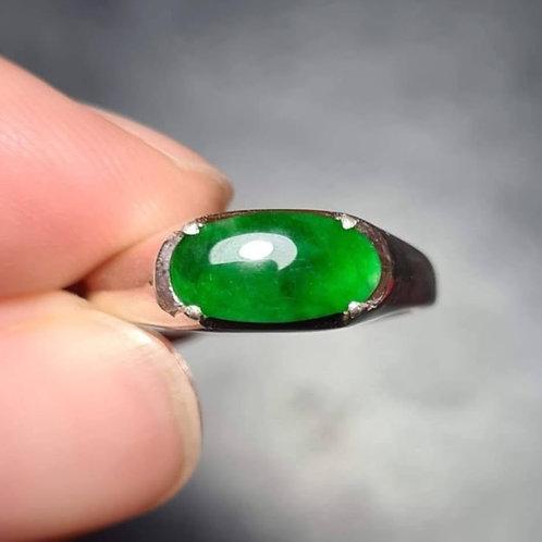 Imperial Legacy, 1.5 ct. Saturated Translucent Imperial Green Jadeite Jade
