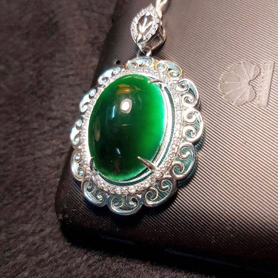 Rare Imperial Translucent Black Jadeite Jade4
