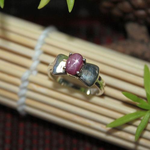 Stunning Unheated/ Untreated Burmese Star Ruby Gemstone Set in a 92.5 Silver