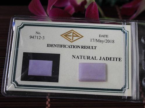 16.4 ct. Violet-Lavender Jadeite Jade (Grade A) Blank-Cut Rectangle Chunk