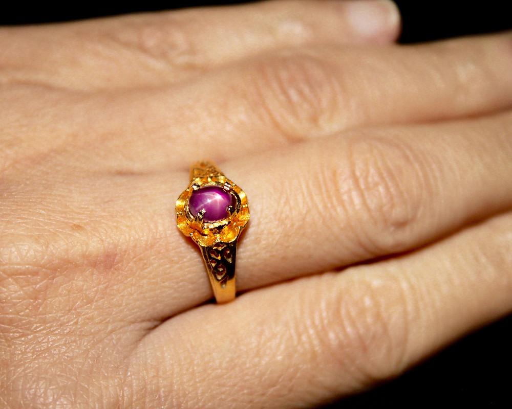 Untreated Burmese Star Ruby Gemstone