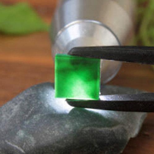 Top Quality, Clear 5.9 ct. Imperial Translucent Black Omphacite Jadeite Jade