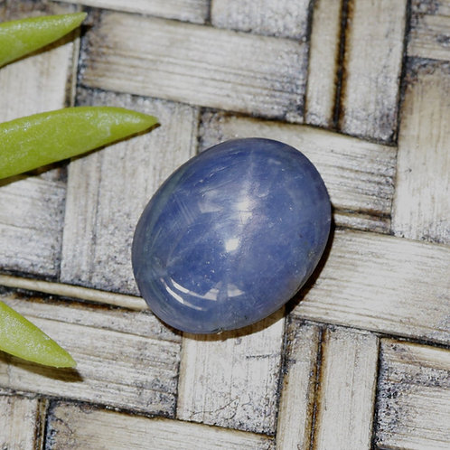 4.6 ct. Unheated/Untreated, Blue Star Sapphire Cabochon Gemstone