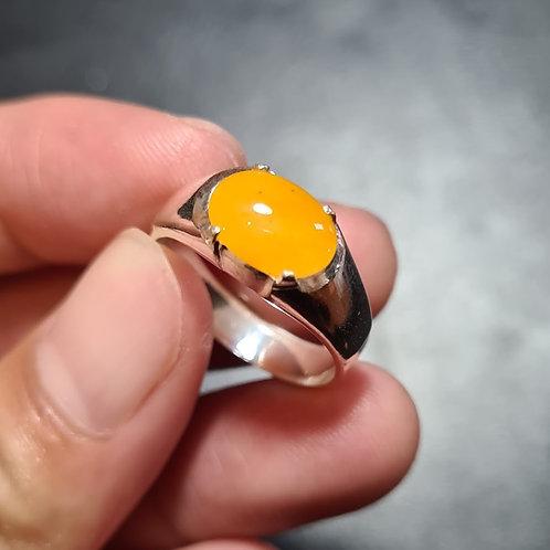 Sun Burst, Rare Vivid Yellow Saturated, Jadeite Jade (Grade A) Gemstone