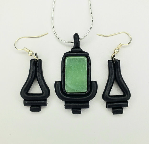 Green Quartz Jewelry Set - One of a Kind