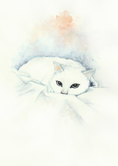 3 Cats - Watercolor Print Set